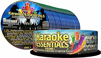 Karaoke Essentials 500 Song CDG Pack. Includes Case, Songlists and Ripper Softw