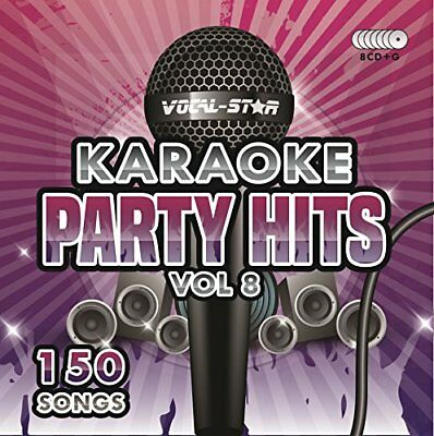 Karaoke Party Hits Vol 8 CDG CDG Disc Set - 150 Songs on 8 Discs Including The