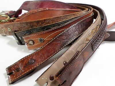 Lot of 10 Leather Belt Straps Mens Reseller Wholesale Tooled Damaged Distressed