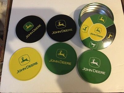 New Metal John Deere Coasters - Cork bases