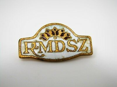 Vintage Collectible Pin: RMDSZ Antique Beautiful Design