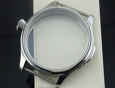 44mm 316L Stainless Steel Watch Case Fit for ETA 6497 6498 ST36 Watch Movement