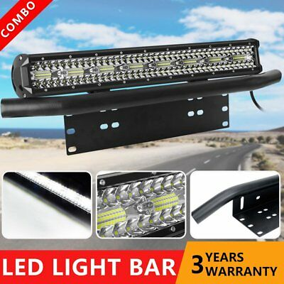 "23 inch 2000W CREE LED Light Bar SPOT & FLOOD / 23"" Black Number Plate Frame"