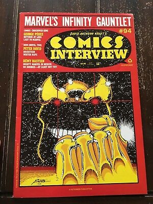 Comics Interview 94 Infinity Gauntlet Preview Issue- Thanos / Silver Surfe