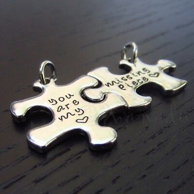 You Are My Missing Piece Puzzle Sets Silver Plated Charms C8913 - 1, 2 Or 5 Sets