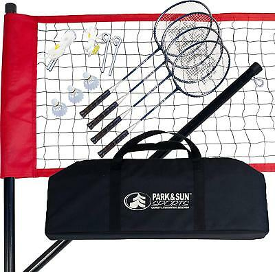 Park  Sun Sports Portable Outdoor Badminton Net System with Carrying Bag and