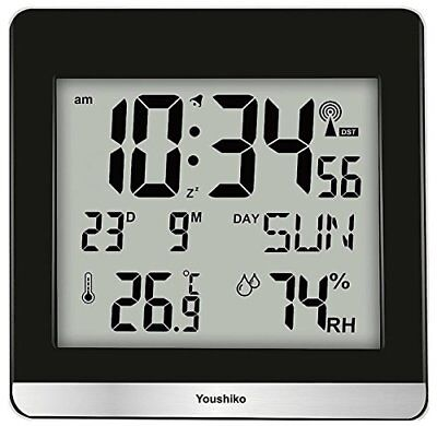 Large Jumbo Lcd Radio Controlled Silent Wall Clock  Uk   Ireland Version  With T