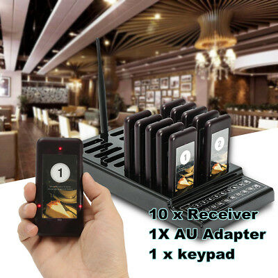 20 Slot 10 Restaurant Coaster Pager Guest Wireless Paging Queuing Calling System