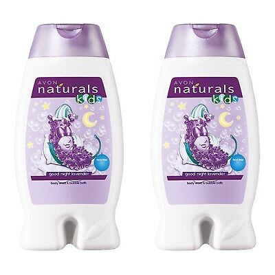 Avon Naturals Kids Goodnight Lavender Body Wash & Bubble Bath 2x 250ml Bottles