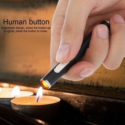 USB Windproof Dual Arc Flameless Electric Lighter Cigarette Rechargeable + Cable