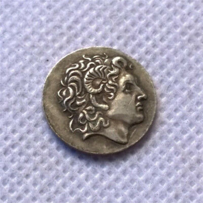 1pc Ancient Alexander III The Great Greek Coin Silver Plated Drachm 336-323 BC