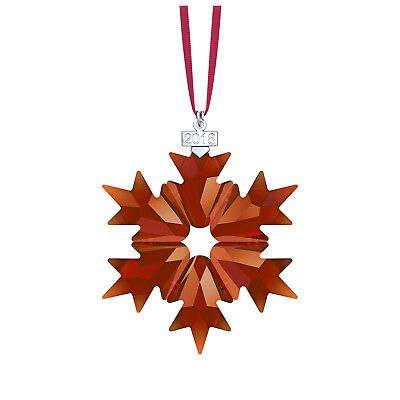 Swarovski Crystal Holiday Christmas Ornament Red Snowflake AE 2018 Large 5460487