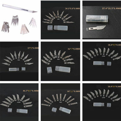10pcs Metal Engraving Knife Blades Pen Precision Wood Carving Tool Sculpting Set