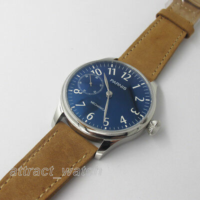 44mm Parnis Hand Winding Movement Men's Classic Watch Stainless Steel Case