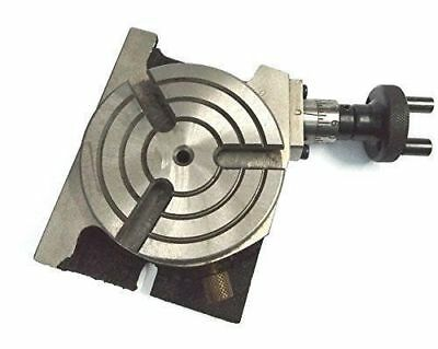"3"" ROTARY TABLE 80mm HORIZONTAL VERTIKAL WITH3 SLOTS FOR MILLING ROTARY TABLE 3"""