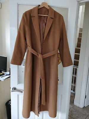 1c39c3ec7c2 Other Stories Oversized Long Belted Camel Beige Wool Coat 10/12 Autumn  Classic