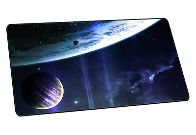 New 3D Star Galaxy Cosmos Extended Gaming Keyboard Mouse Pad Full Desk Mat