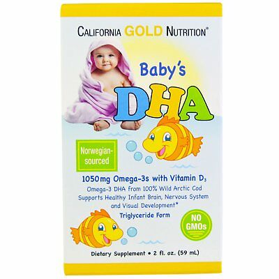 California Gold Nutrition, Baby's DHA, 1050 mg, Omega-3s with Vitamin D3 59 ml