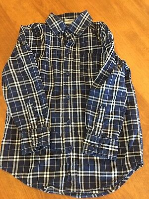 Boys Gymboree Crazy 8 Button Down Plaid Long Sleeve Shirt XS 4 4T