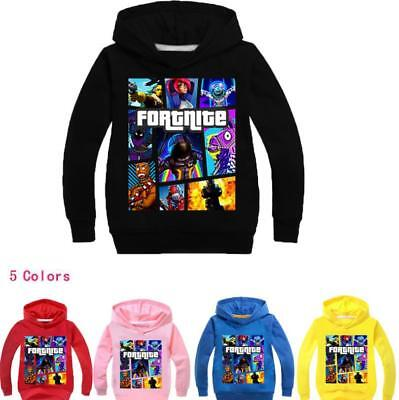 Kids Hoodies Fortnite llama Girls Boys Sweatshirt Coat Hooded Clothing 2-11Years