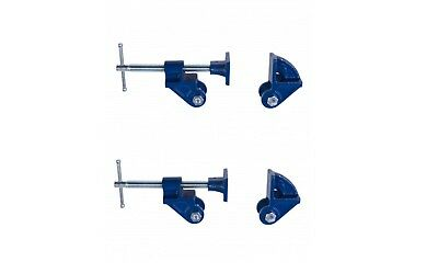 2 X  25mm Adjustable Malleable Iron Jaw Clamp Head Set Woodworking Clamps