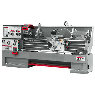 JET GH-1660ZX Large Spindle Bore Lathe With Newall DP700 DRO