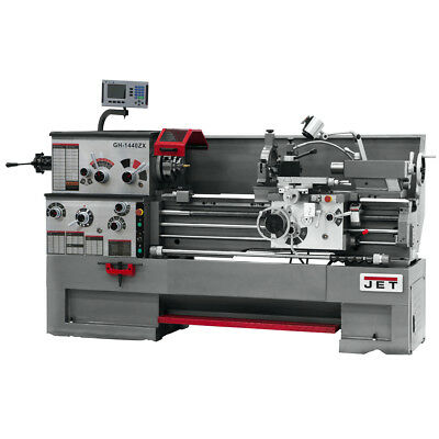 JET GH-1440ZX Large Spindle Bore Lathe With ACU-RITE 200S DRO With Collet Closer