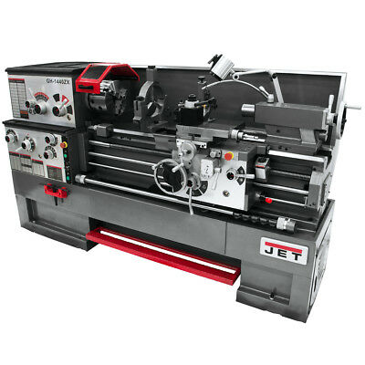 JET GH-1660ZX Large Spindle Bore Lathe With Taper Attachment and Collet Closer
