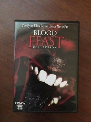 Blood Feast Collection (DVD, 2005) 5 Terrifying Films for the Horror Fan 2 discs