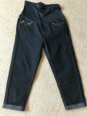 NWOT Times2 Maternity Capri Jeans Dark Rinse Over Belly Size M