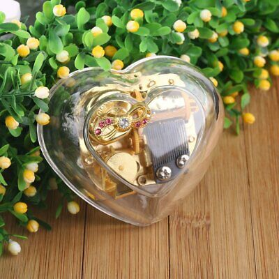 Gorgeous Heart Shape Wind Up Music Box : YOU ARE MY SUNSHINE