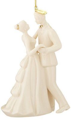 """NIB Lenox 2016 """"Always and Forever"""" Bride and Groom Ornament"""