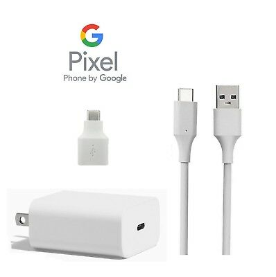 Google Pixel Charger Wall Home AC Type C USB-C to USB-A Cable Adapter OEM