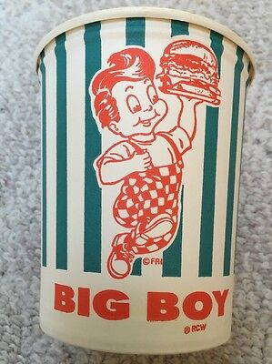 NOS Vintage BOBS BIG BOY CUP CHILI SOUP BOWL Advertising Lily Container Beverage