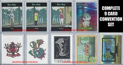 2018 Rick and Morty Complete CONVENTION EXCLUSIVE 9 Card Set by Cryptozoic