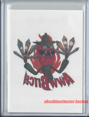 2018 Rick and Morty CONVENTION EXCLUSIVE Aww Bitch Tattoo Card #T10 Cryptozoic