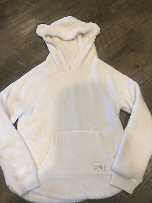 •Abercrombie & Fitch• girls Kids Ear Hooded super soft sweater 9/10 Pullover