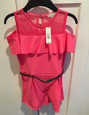 River Island Girls Pink Playsuit 9-10yrs New With Tags RRP £20