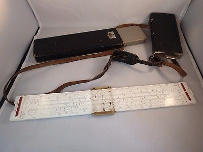 Antique Old Vintage German Aristo Calculator 0968 Model Slide Rule German +  Lea