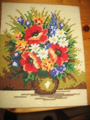 Bowl of Flowers Wool Tapestry