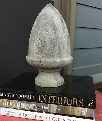 Antique Marble Acorn Finial Newel Post Fragment Architectural Salvage