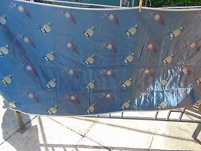 VINTAGE CHINESE JAPANESE QUALITY SILK MATERIAL PIECE 2.7m x 0.7m