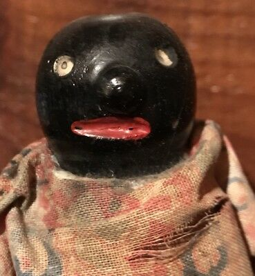 Antique Black Americana Wilson Walkie Ramp Walker Homespun Dress Toy Doll  AAFA