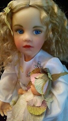 Goebel, Collection of the Masters, Richard Simmons Jessica & baby Porcelain Doll