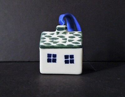 Boleslawiec Polish Pottery Christmas Tree House Ornament Or Decorative Piece