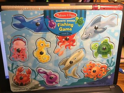 Melissa & Doug Fishing Magnetic Wooden Puzzle Preschool Game Ages 3+ BRAND NEW