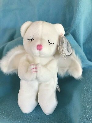 MINT!! Ty Beanie Baby ~ BLESSED the Angel Bear MWMT RETIRED 2002