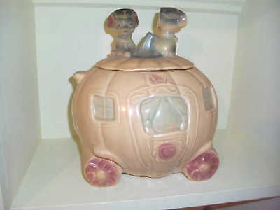Brush Mccoy Cinderella Coach Cookie Jar Pumpkin Mice Pottery W32