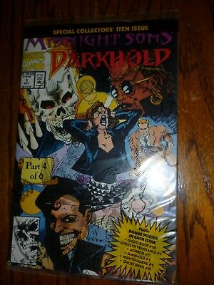 Darkhold 1 Midnight Sons Ghost Rider Still In Polybag W/ Poster Nm Marvel Comics