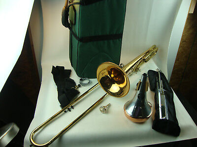 Vintage Benge 165F Trigger F Attachment Trombone /W Case and Accessories